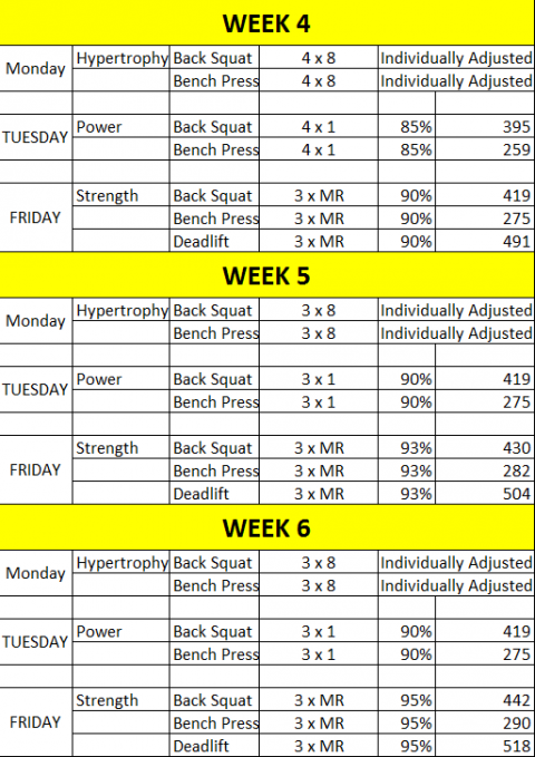 Grizzly gets stronger than a bear stronger 24 7 for Undulating periodization template